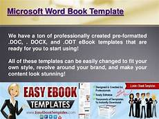 Book Templates For Microsoft Word Microsoft Word Book Template