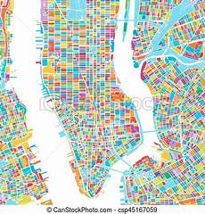 Malvorlagen New York Version New York City Usa Colorful Vector Map Printable Outline