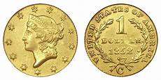 Gold Coin Prices Chart 1852 C Liberty Head Gold Dollars Type 1 Early Gold Dollar