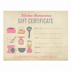 Diy Voucher Template Kitchen Homewares Gift Certificate Gift Voucher Diy