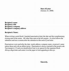 Basic Business Letters Sample Basic Letter Format 7 Download Documents In Pdf