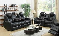 coaster 601741p 601742p black leather power reclining sofa
