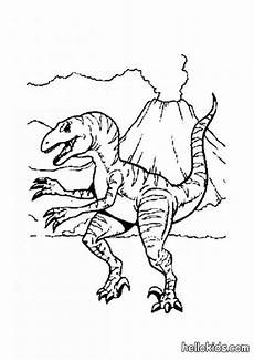allosaurus and volcano coloring pages hellokids
