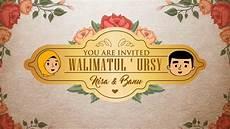 undangan animasi pernikahan vintage love story youtube