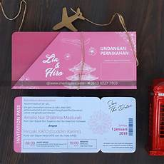 mp 175 undangan tiket boarding pass cetak undangan