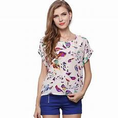 plus chiffon blouse smallflower tops shirts birds printed top wholesale supplier from pune