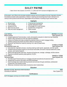 Project Profile Format For Bank Loan Best Loan Officer Resume Example Livecareer