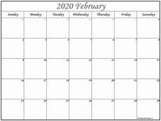 Free Calendar Template February 2020 February 2020 Calendar Free Printable Monthly Calendars