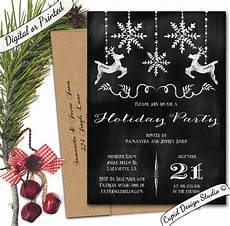 Black And White Christmas Invitations Black And White Chalkboard Christmas Holiday Party
