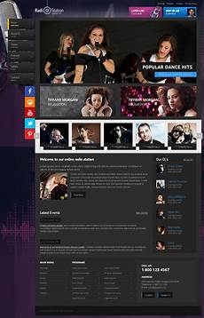 Radio Station Template Greatest Hits Radio Station Bootstrap Html Template On Behance