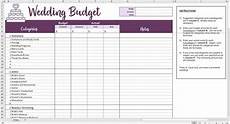 Wedding Excel Template Easy Wedding Budget Excel Template Savvy Spreadsheets
