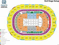Seating Chart Of Ppg Paints Arena Janet Jackson Ppg Paints Arena