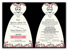 undangan gambar jas undangan pernikahan model custom murah terbaru jasaprint