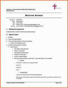 Board Agenda Template 5 Board Meeting Agenda Marital Settlements Information