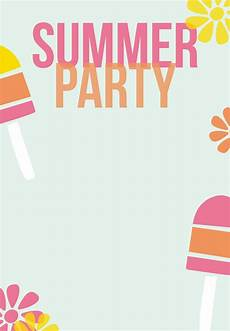 Summer Party Invitations Templates Summer Party Invitation Free Printable Striped Popsicles