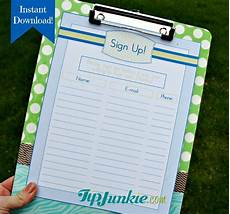 Printable Snack Sign Up Sheet 14 Sign Up Sheets Potluck Snack Church Sports School