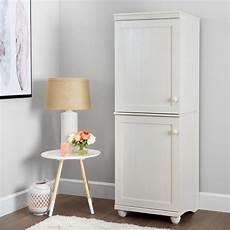 south shore hopedale white wash 2 door narrow storage