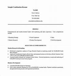 Sample Combination Resume Combination Resume Template 6 Free Samples Examples