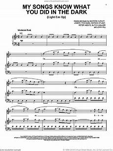 Light It Up Sheet Music Boy My Songs Know What You Did In The Dark Light Em Up