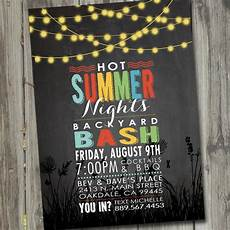 Summer Party Invites Summer Nights Party Invitation Printable Summer Party