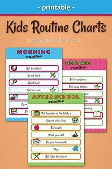 Printable Daily Schedule Kids Free Kids Routine Chart Printables 24 7