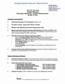 Resume Format Of Student Student Resume Format A