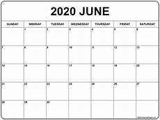 June 2020 Weekly Calendar June 2020 Calendar Free Printable Monthly Calendars