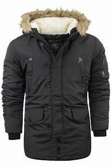 hooded winter coats mens brave soul parka padded lined winter jacket