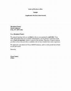 Decline Letter Meeting Decline Letter Well Written Example Letter For