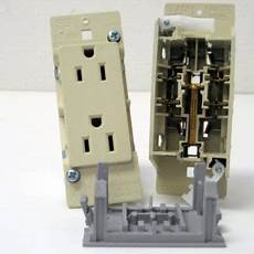 Manufactured Home Light Switch E 111 Ivory Self Contained Toggle Light Switch With Plate