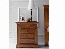 comodini in legno massello 242 e comodini in legno massello con intarsio artigianale