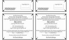 contoh undangan tahlil 1 folio jadi 2 contoh isi undangan