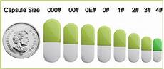 Capsule Chart Empty Gelatin Capsules Sizes Information Capsule Depot