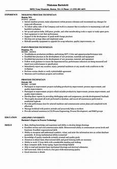 Process Technician Resumes Process Technician Resume Samples Velvet Jobs
