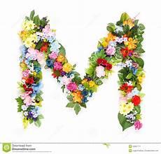 letras con flores letras de hojas y de flores imagen de archivo imagen de