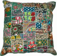 Sofa Pillow Covers 24x24 3d Image by 24x24 Xl Green Pillow Covers Handmade Cotton Sofa Cushion