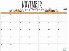 November 2020 Calendar For Kids 2020 Printable Calendar For Imom
