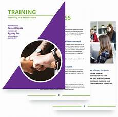 Training Advertisement Template Training Proposal Template Free Sample Proposify