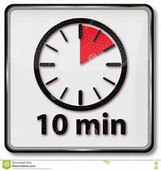 Timer 10 Minutes Clock With 10 Minutes Stock Vector Illustration Of Minute
