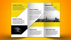 Photoshop Brochure Templates Make A Business Tri Fold Brochure In Photoshop Cc Youtube