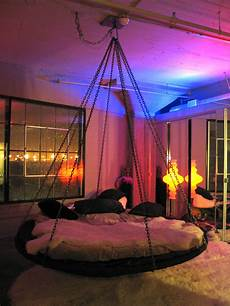 floating hanging bed with chains and fabulous