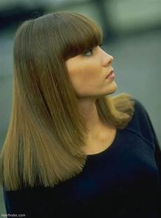 frisuren dickes haar pony hairstyle with thick blunt bangs