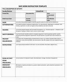Work Instruction Form Work Instruction Template Word Awesome 10 Instruction