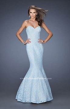 La Femme Light Blue Dress La Femme 20047 The Lace Mermaid Prom Dress