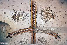 larroque toirac castle fresco on ceiling with floral