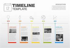 Timeline With Pictures Template Infographic Timeline Template Years Reports Icons Photos