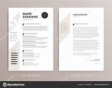 Cover Letter And Cv Stylish Cv Design Curriculum Vitae Cover Letter Template