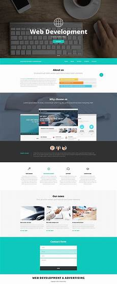 Sample Templates For Website Web Design And Advertising Website Template 52537
