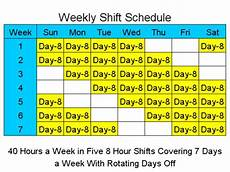 Rotating Shift Schedule 8 Hour Rotating Shift Schedules Examples Planner
