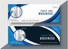 Banner Design Set Of Two Professional Corporate Business Banners Design